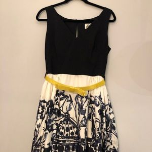 Milly Belted Midi Dress, Size 6